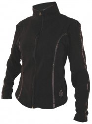 Women's Full Zip Fleece (black)